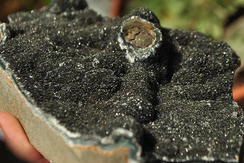 Black Amethyst Geode