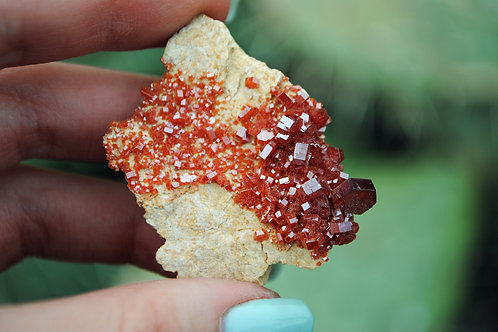 Vanadinite | Barite | Orange | Red | Crystal | Mineral | Rock | Root Chakra