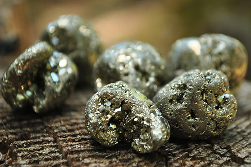 Small Tumbled Pyrite Stones