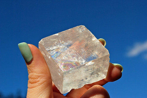 Optical Calcite | Clear Crystal | Iceland Spar | Double Refractive |