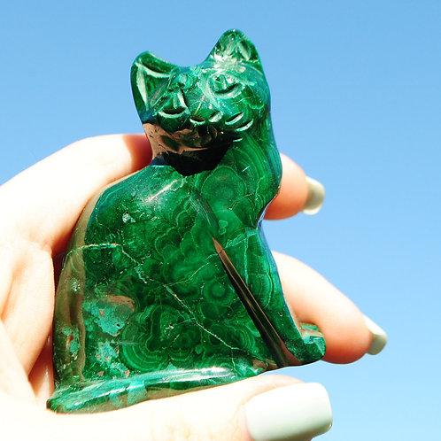 Malacat | Green Cat | Travelers Stone | Green Stone | Mineral | Chakra
