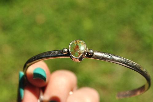 Kingman Turquoise Silver Bracelet