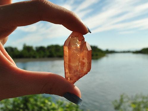 Tangerine Quartz Crystal | Quartz | Tangerine | Orange | Mineral | Crystal
