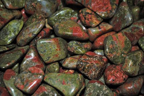 Bulk Unakite Jasper | Green Tumbled Stone | Mineral Healing |
