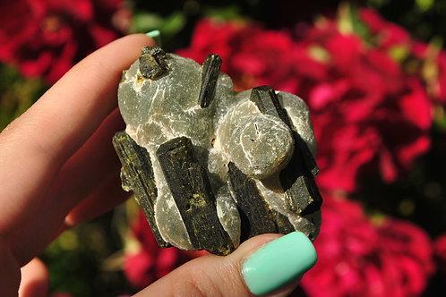 Prehnite & Epidote | Epidote | Prehnite | Green | Rock | Mineral | Crystal
