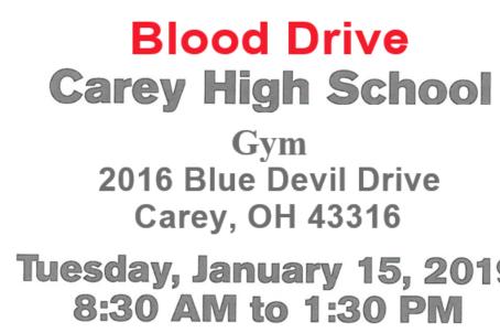 Blood Drive - Jan. 15th