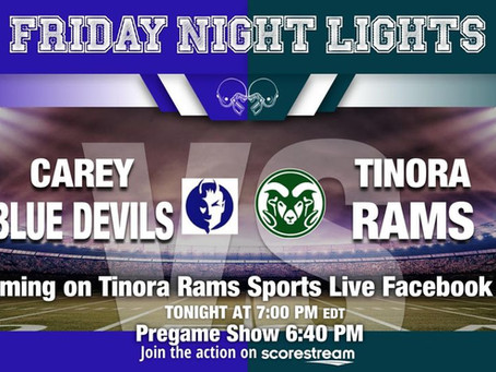 Carey vs. Tinora Football Game Live Link