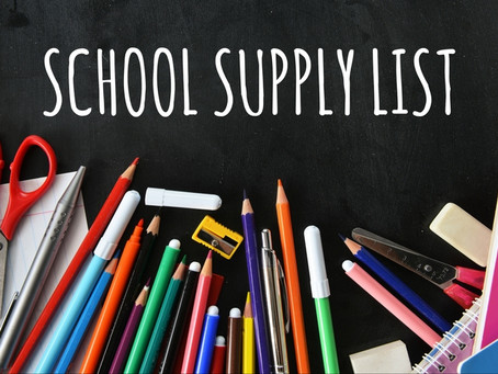 Carey Elementary Supply List
