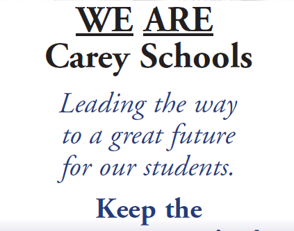 Vote Yes for Carey Schools Renewal!