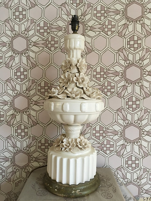 Casa Pupo Style Large Double Tier White China Table Lamp - SOLD