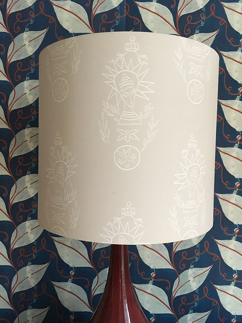 Large Drum shade in African Queen Paper