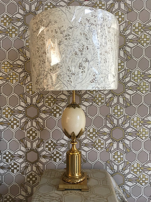 Pair of Maison Charles Ostrich Egg Lamps