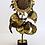 Thumbnail: Gilt Metal Lamp in Shape of Sunflower