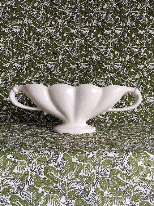 Large Scallop Shaped Classic Glazed Spry Vase