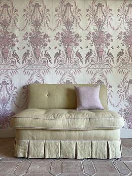 1 Adam Pink and Grey Arabesque with sofa