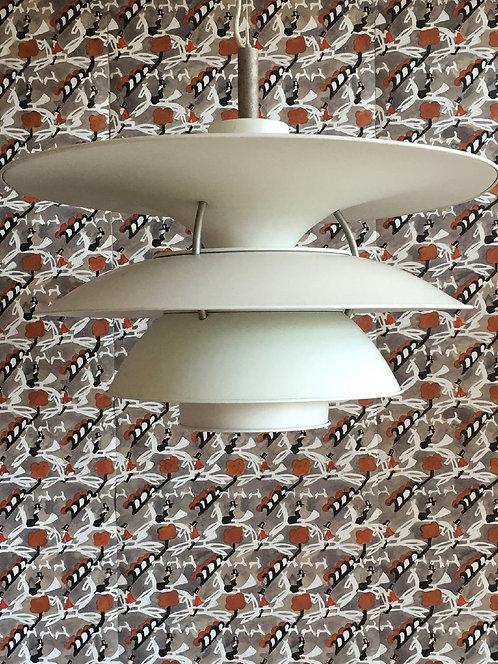Vintage Large White Poulsen Ceiling Pendant Light