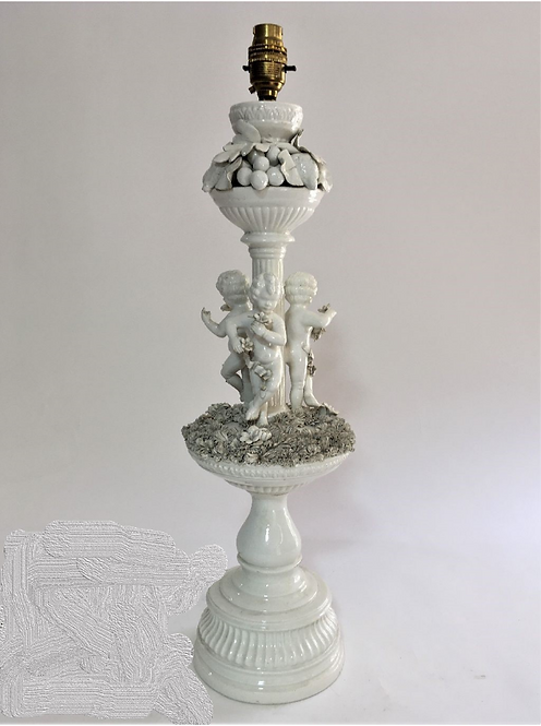 Decorative Table Lamp with Cherubs on base