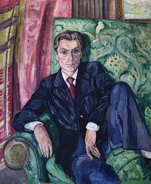 Edward Wolfe oil portrait of Dick Pope Smith