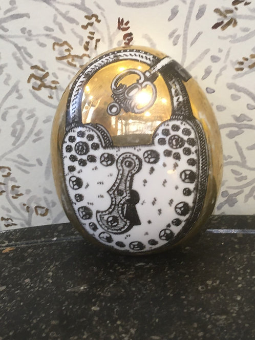Fornasetti Paperweight with Padlock Motif