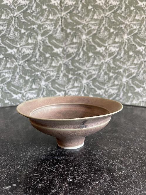 Studio Pottery Earth Pink Raised Bowl