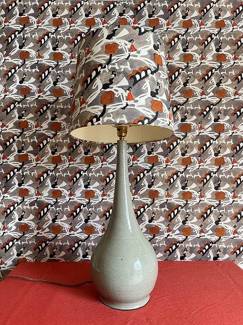 Hand Thrown Table Lamp - Grey