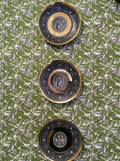 Three Vintage Fornasetti Plates