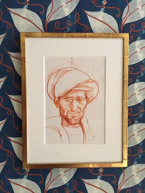 Emma Sergeant Épicier Afghan Drawing in crayon