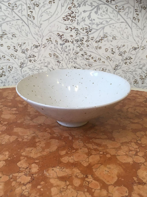 Small Mercury Bowl Grey Speckled 18cm