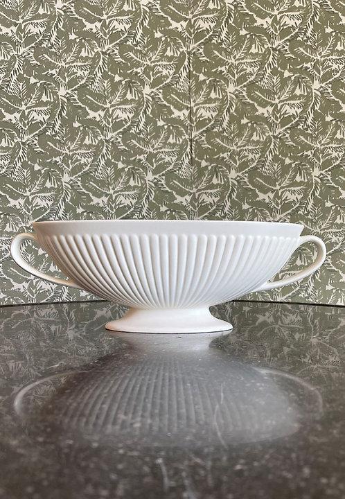 Wedgwood White Ribbed Mantle Vase