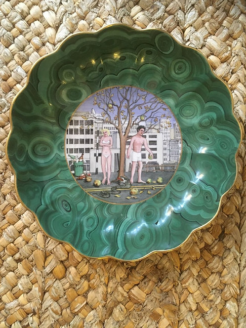 Priscilla Kennedy Adam and Eve Modern Take Plate