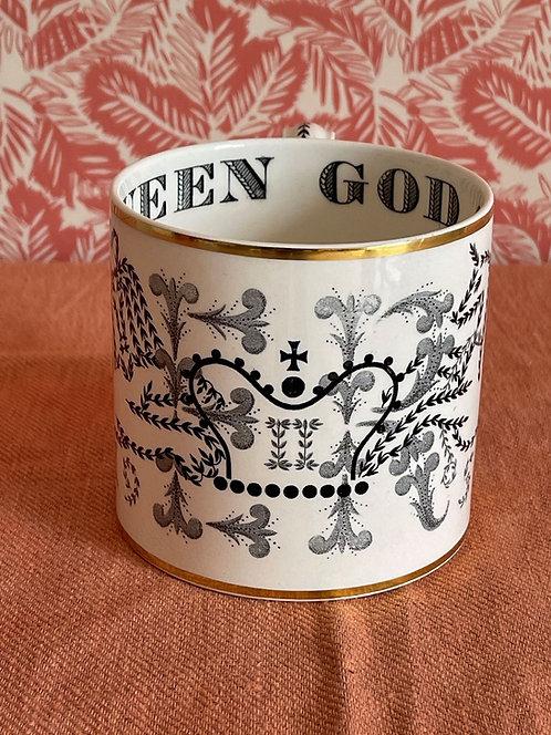 Monochrome Wedgwood Richard Guyatt 1953 Coronation Mug