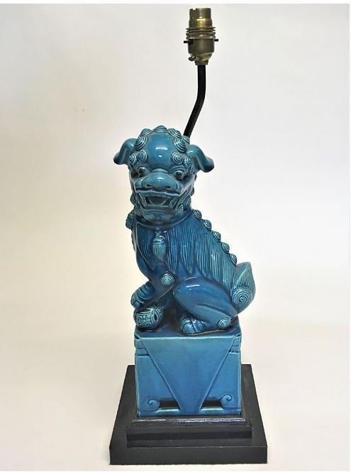 Turquoise Blue Foo Lamp
