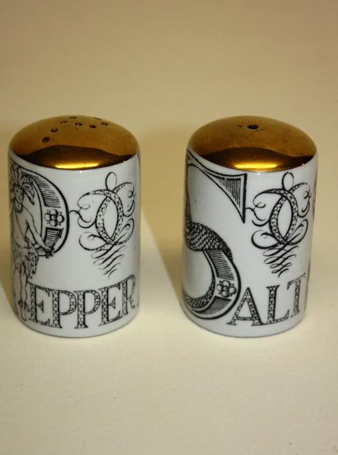 Pair of Fornasetti Salt & Pepper with Original Box