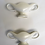 Thumbnail: Pair of Small Constance Spry Classic White Mantle Vases
