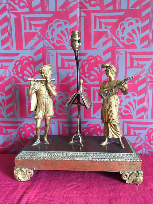 19th Century Gilt Musical Group converted to Lamp
