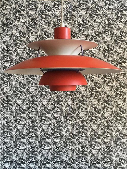 Vintage Classic Red Poulsen Ceiling Pendant