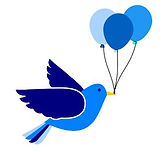 bluebird with balloons.JPG