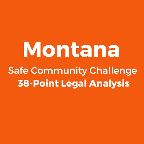 Montana 2020 Safe Community Challenge 38-Point Legal Analysis