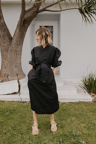Ruby Wrap Dress with Sleeves