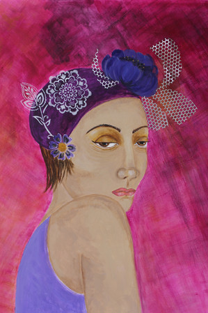 Woman with Blue Flower2.JPG