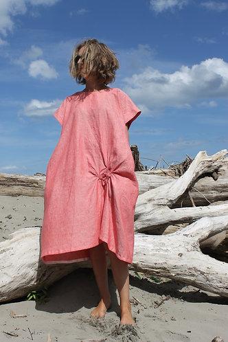 Poppy dress Coral