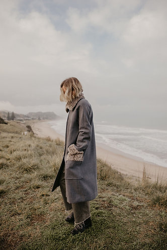 Raglan Coat with Collar