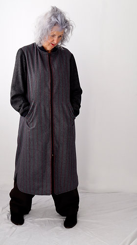 A Momentary Side Glance Zip Coat