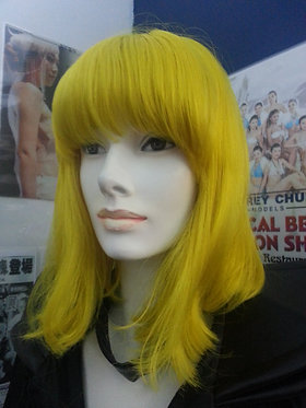 Wig Shoulder Length Yellow