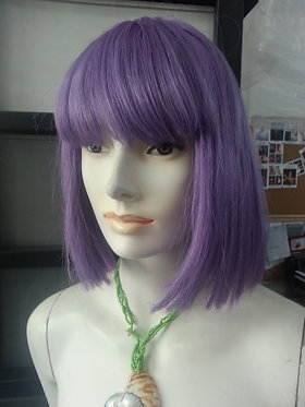 Wig Shoulder Length Purple