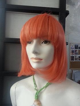 Wig Shoulder Length Orange