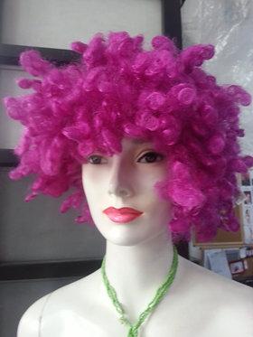 Wig Afro Purple