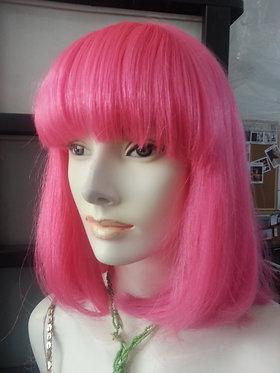 Wig Shoulder Length Pink