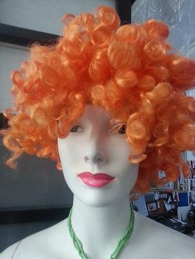 Wig Afro Orange