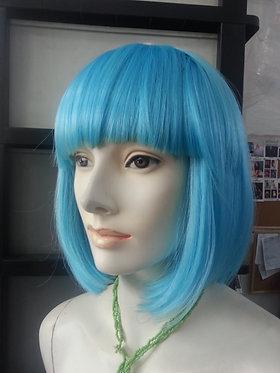 Wig Shoulder Length Blue